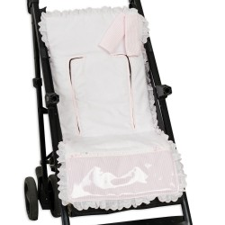 Lightweight chair cushion covers Harness Line Rosa