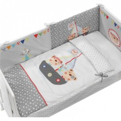 Cradle duvet and protector 60 x 120 Pirate Interbaby