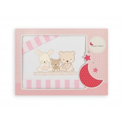 Crib Sheet Set Love Pink Interbaby