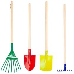Herramientas coloridas para el jardín, 4 piezas