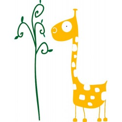 Decorative vinyl giraffe 2