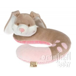 Headrest for baby pink bunny