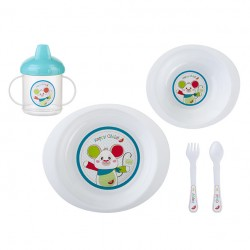 5-piece dinnerware Pocket Selva Azul SARO