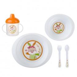 5 piece dinnerware Orange Jungle Pocket SARO