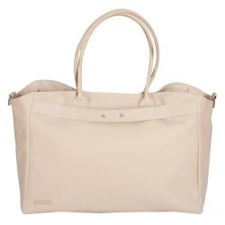 Leather beige leatherette bag maternal infant