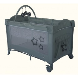 Travel cot Dream Star Smooth Gray
