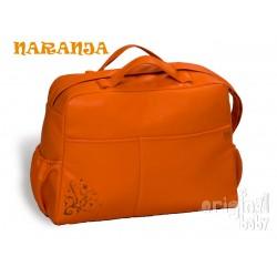 Hospital bag Leather Orange