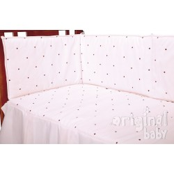 Crib quilt 60 x 120 Lucia Choco Pink PROTECTOR NOT INCLUDED