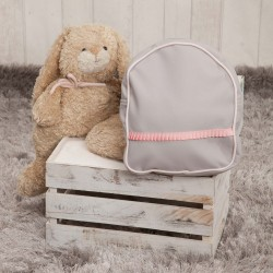 Mochila Guarderia Gray Pink poly skin