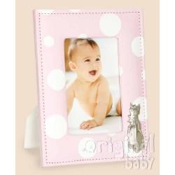 Fabric photo frame pink bambi