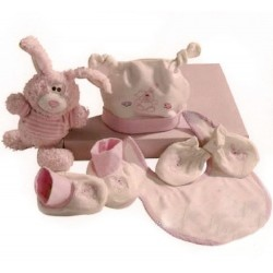 Gift set 5 piece newborn pink