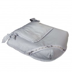 Carrycot coverlet Bombón Gray