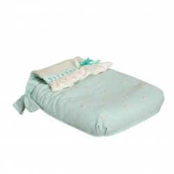 Carrycot coverlet Caricias Aquamarine