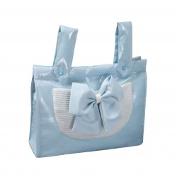 Baby Blue Sparkles breadbox leatherette