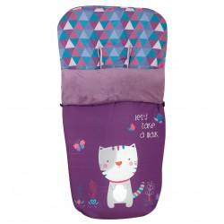 Bag for stroller Purple Kitty