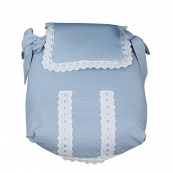Classic Blue Bedspread Carrycot